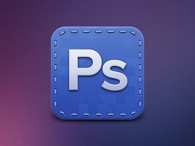 Photoshop Icon photoshop ps cs6 icon blue stiches colorful