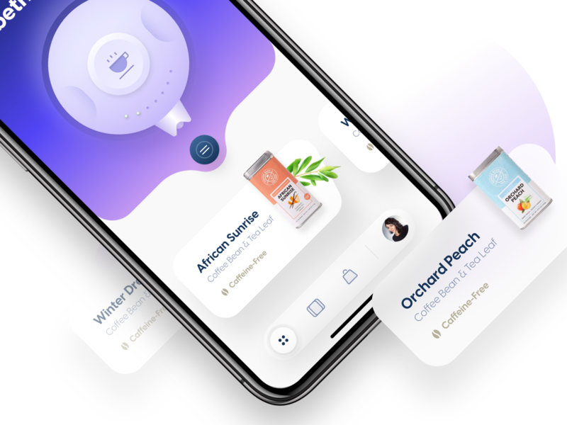 Smart Tea Maker ios app iphone app iphone ios user interface ui mobile ui mobile design mobile app mobile app design app