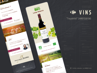 French wine traceability, mobile app.