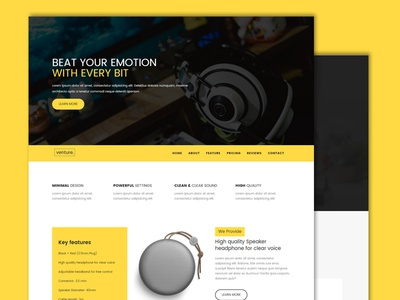 Venture-single product landing page