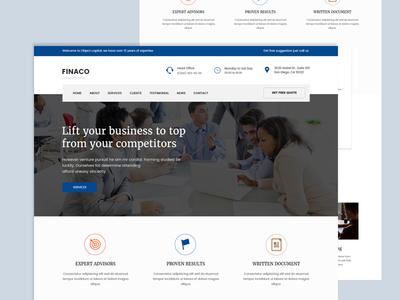 Financo-financial consultance homepage
