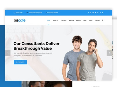 Bizcafe Corporate HTML Template
