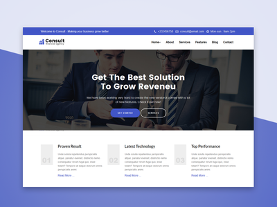 Consult- Consulatnce financial Template
