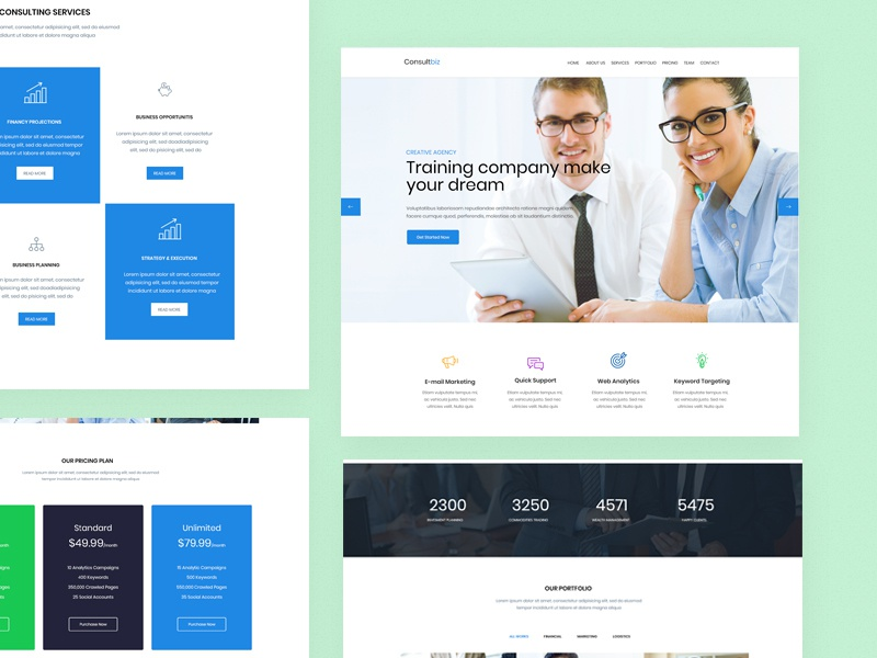 ConsultBiz- Free PSd Template free psd business modern responsive creative clean