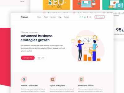 Numan  Digital   Marketing Agency Html Template