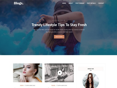 Blogx- Free Html Blog template
