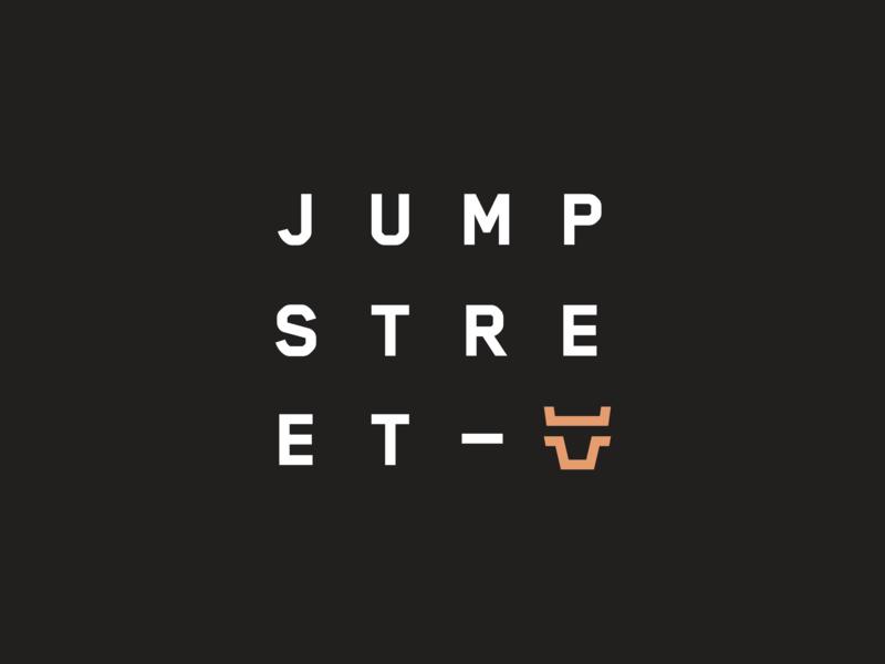 JUMP-STREET — Logo icons burger corporate identity bull jump street minimal website flat animation web app icon ux typography branding vector ui logo design illustration