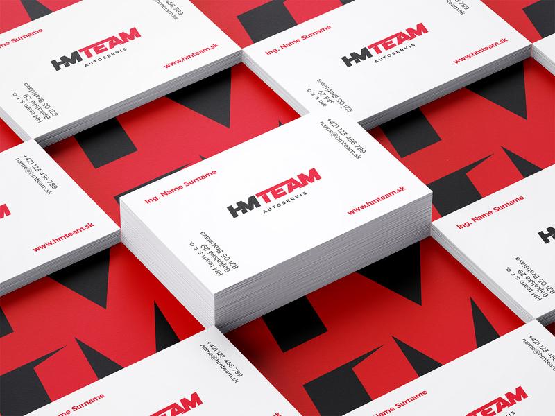 HMTEAM — Business Cards car service automotive branding design brand identity brand car hmteam business card identity blank ui typography minimal logo illustration icon app design branding animation