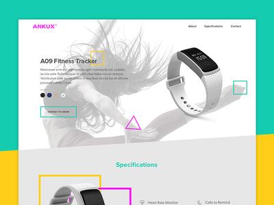 Mini website design for Ankux Fitness Tracker