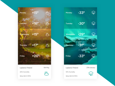 Weather app for Uplabs Challenge