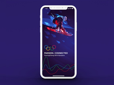 Welcome screen for Winter Olympics App