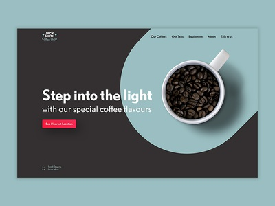 Jack Smith Coffee Shop Landing Page