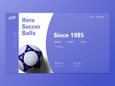 Hero Soccer Balls Landing Page