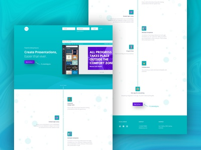 Landing Page for Canva Promotion Page web design website design uiux design promotion teal ux design ui design uiux landing page design canva design canva landing page