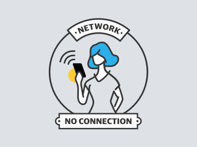 Network No Connection line illustration error 404 network
