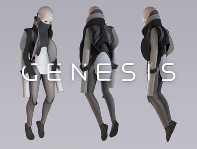 Genesis genesis girl character design character shimur 3d logo zbrush