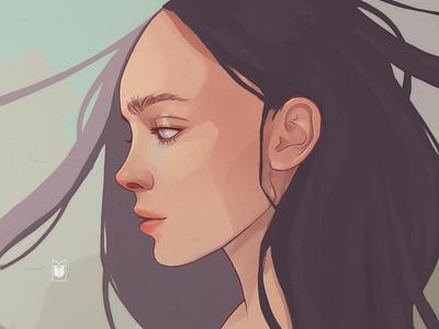 Girl portrait girl character design shimur illustration