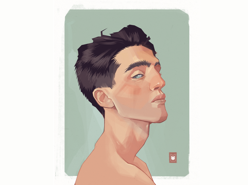 boy shimur portrait character design character illustration
