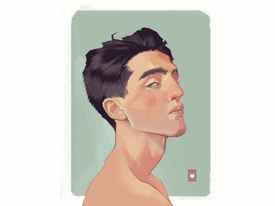 boy shimur portrait character design character illustration