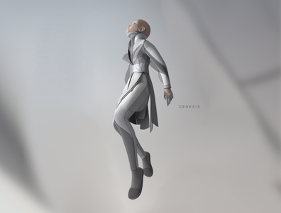 Genesis zbrush character design character 3d shimur