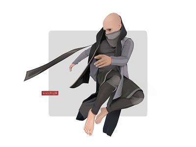 Shimur apocalypse illustrator logo character design character shimur illustration