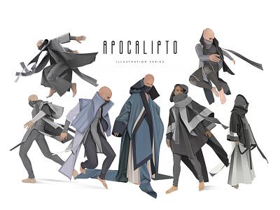 Apocalipto apocalypse character design character illustration