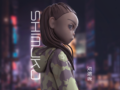 Shimuko design avatar 3d girl logo zbrush shimuko character design character shimur