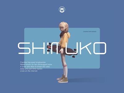 Shimuko avatar vector portrait logo zbrush 3d girl character design character shimur