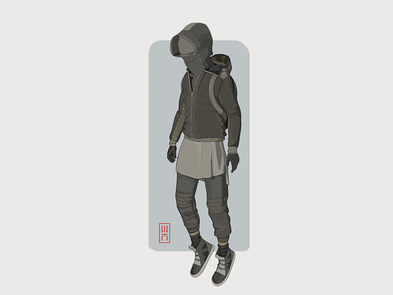 H+ human plus game outfit style jump jacket shimur character design 3d shoes sneakers