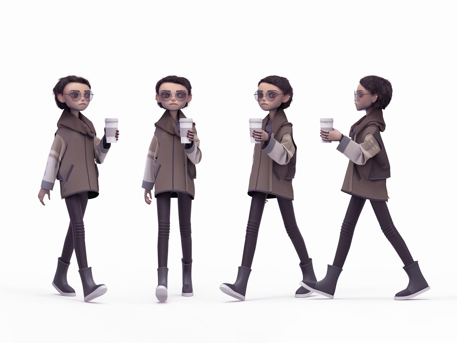 Shimuko zbrush girl 3d character design character shimur