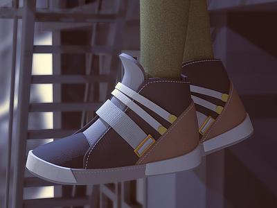Sneakers cgart sneakers zbrush 3d