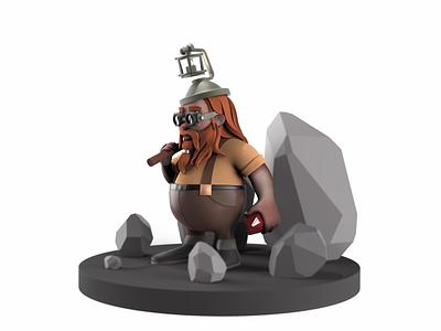 Dwarf dwarf character design character 3d