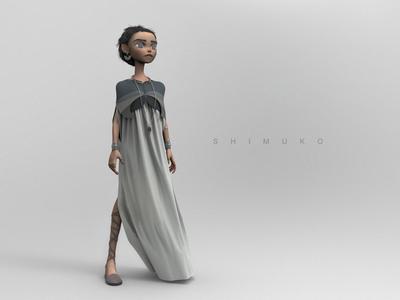Shimuko shimuko zbrush girl character design character shimur 3d