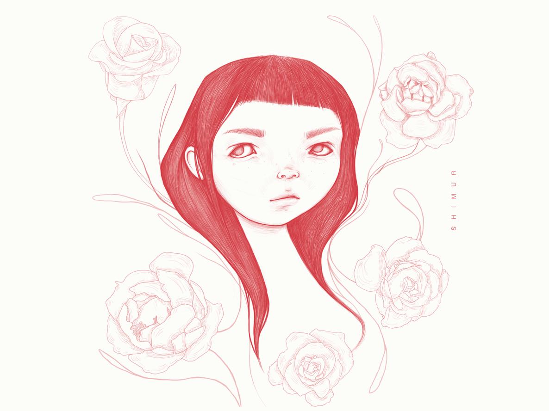 Girl shimur design avatar girl portrait character design character illustration