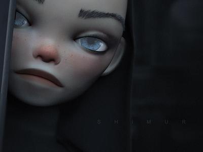 Shimur portrait zbrush girl character design character shimur 3d illustration