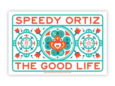 Speedygoodlife Db omaha rock poster gig poster illustration layout leannarts vector print poster