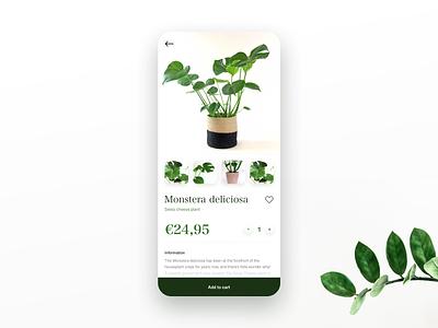 Daily UI - Webshop item 🌱 uidesign app ui design dailyui
