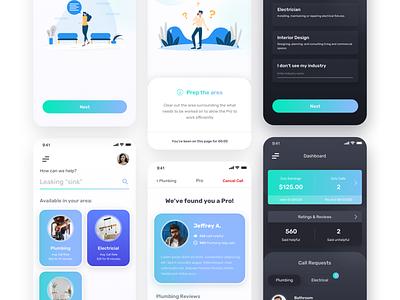 Service App Design Concept business app app mobile design mobile webui uidesign dailyui ui design