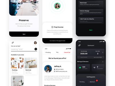 Service App Design Concept business app business mobile design mobile app uidesign dailyui ui design
