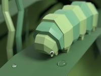 Low Poly Caterpillar