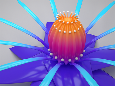 3d floral object floral colorful blender 3d flower