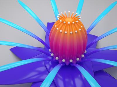 3d floral object floral colorful blender 3d flower