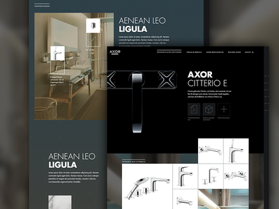 Webdesign for luxury sanitary luxury sanitary bath typography ui website webpage webdesign