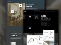 Webdesign for luxury sanitary