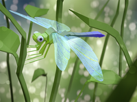 Lowpoly Dragonfly