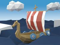 Low Poly Viking Ship