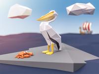 Lowpoly Pelican