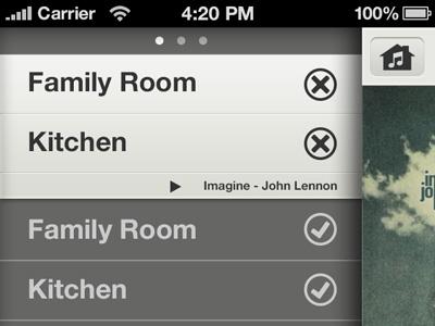 Sonos controller iOS app - zones sonos ui ux iphone app music remote