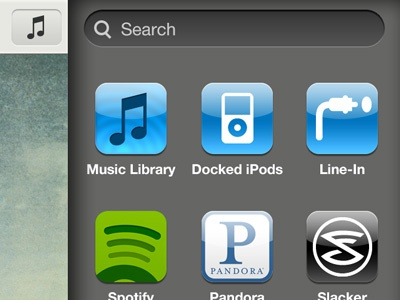 Sonos controller iOS app - music select sonos ui ux iphone app music remote