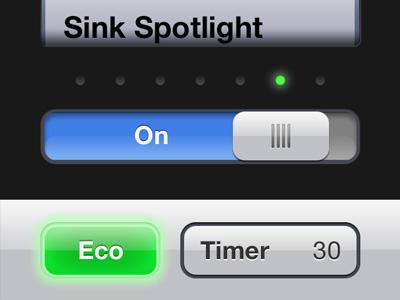 Lutron controller iOS app - light controller lutron ui ux iphone app home automation remote